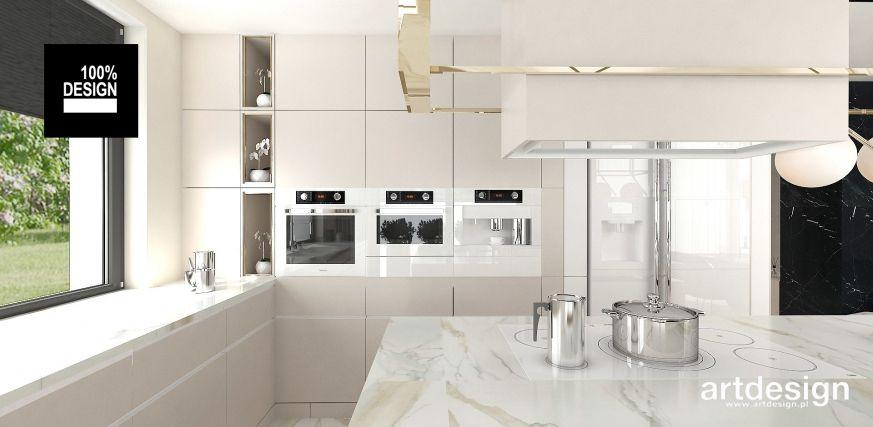 Jasna Kuchnia Z Wyspa I Marmurowym Blatem Kitchen Marble Interior Kuchnia Wyspa Marmur Zabudowa Foorni Pl Projekt Artdesign Pl Home House Kitchen