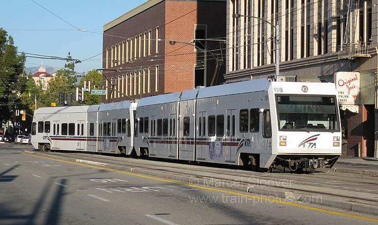 San Jose Light Rail System And Original Joeu0027s.