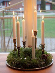 Lys   - Candles #jul #jul diy #jul ideer #rustikaleweihnachtentischdeko