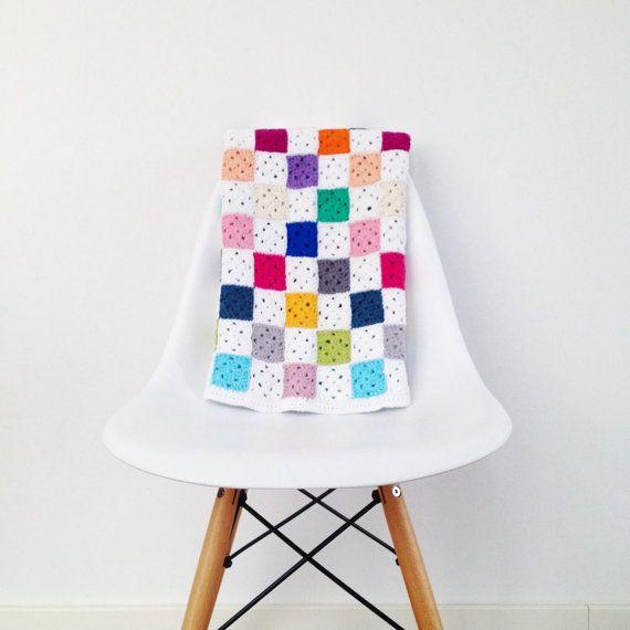 Crochet Granny Square Blanket Pattern - Instant Download | Manta ...