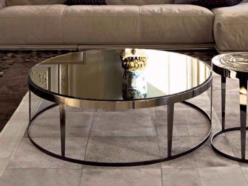 Round Mirrored Glass Coffee Table Aynalar Mobilya Dekorasyon