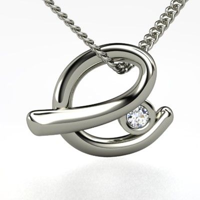 sterling silver necklace with diamond love letters e pendant with gem gemvara