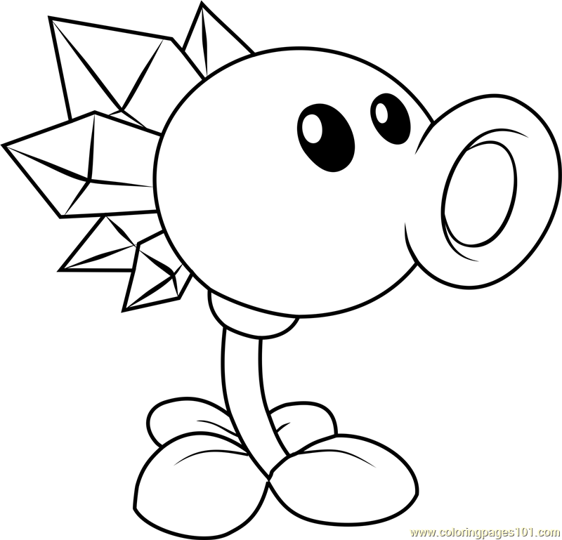 Plants Vs Zombies Coloring Pages ⋆ Coloring.rocks! Plant Zombie, Plants  Vs Zombies Birthday Party, Coloring Pages