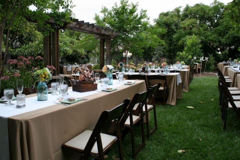 Wedding Reception On A Budget Backyard | Cheap backyard ...