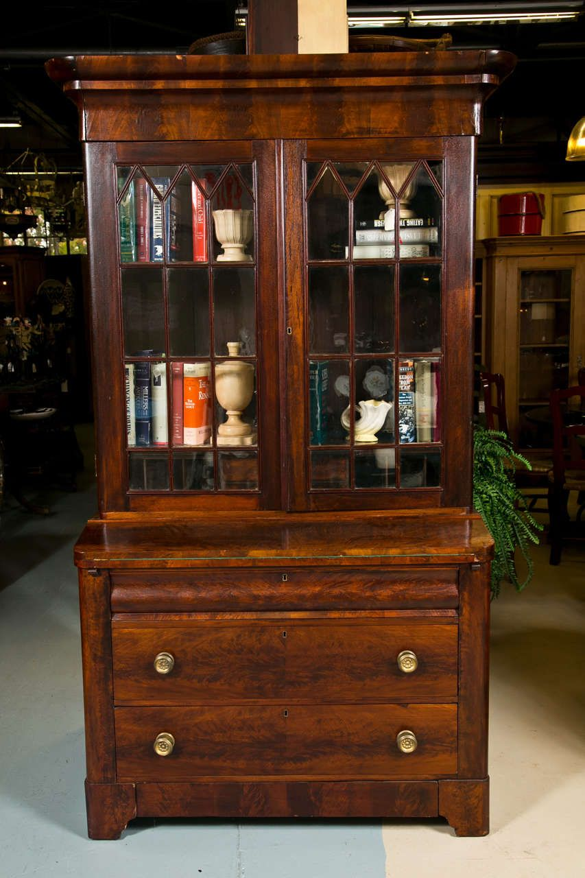 Antique Empire Secretary In Flamed Mahogany 2 - Antique Empire Secretary In Flamed Mahogany Decorating Pinterest