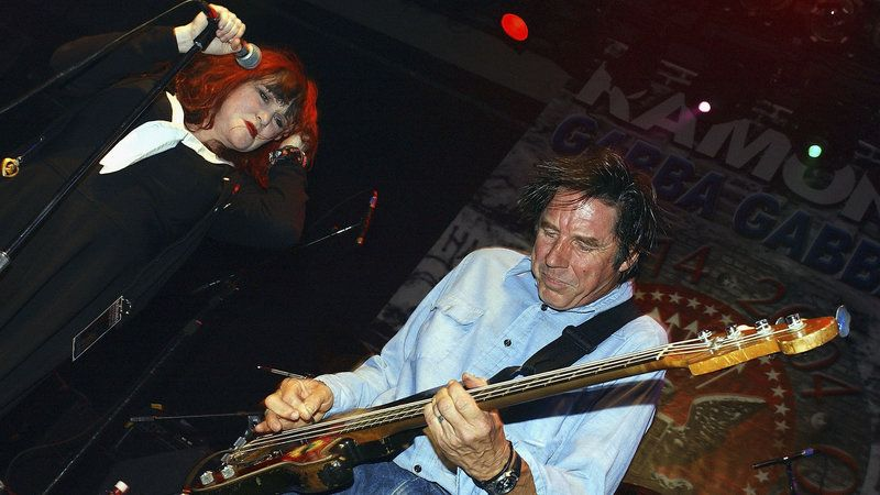 """Exene Cervenka and John Doe perform in Hollywood in September 2004. """"The first person I ever saw jump into the audience was me,"""" Cervenka tells Fresh Air."""