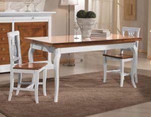 Tavolo Salvaspazio ~ Tavolo allungabile in legno con sedie shabby chic bicolore