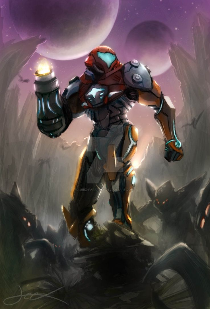 Un Petit Fan Art Sans Pretention De La Superbe Heroine Metroid Armure Prime Corruption