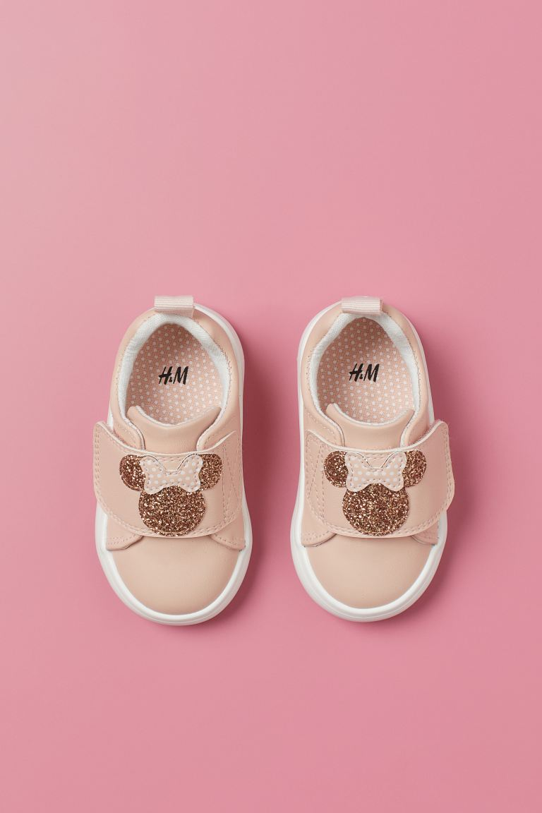Design Sneakers Powder Pink Minnie Mouse Kids H M Us Pink Minnie Powder Pink Baby Shoes