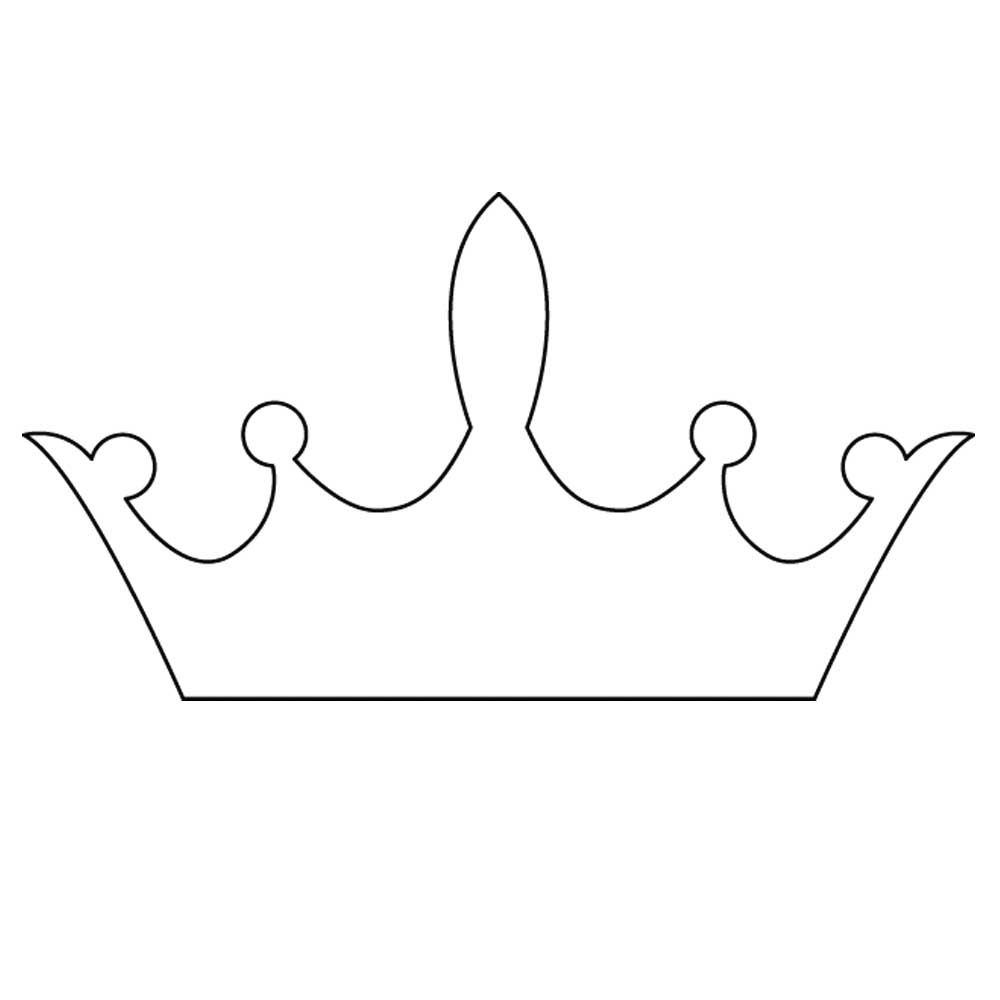 free princess crown template clipart best tattoos pinterest