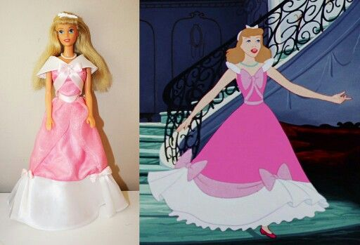 Cinderella in her pink dress FOR SALE | Custom Disney 90's dolls _ ...