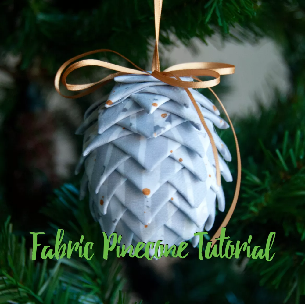 Fabric Pinecone Ornament Ornament Along 2 Mister Domestic Fabric Christmas Ornaments Quilted Christmas Ornaments Pinecone Ornaments