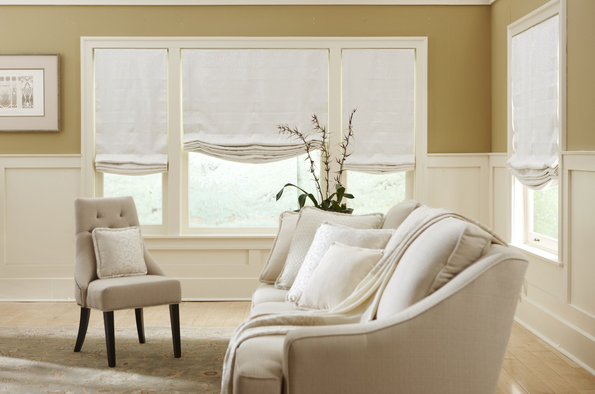 soft roman shades | home ideas | Pinterest | Bedroom sitting areas ...
