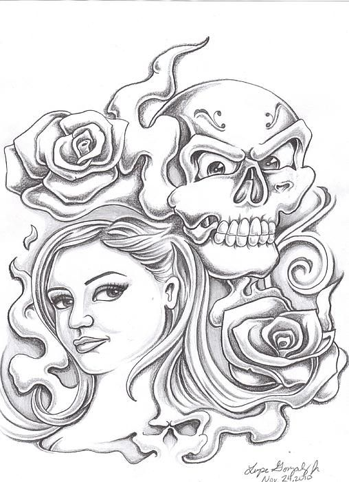 Cool Drawings Of Roses And Hearts