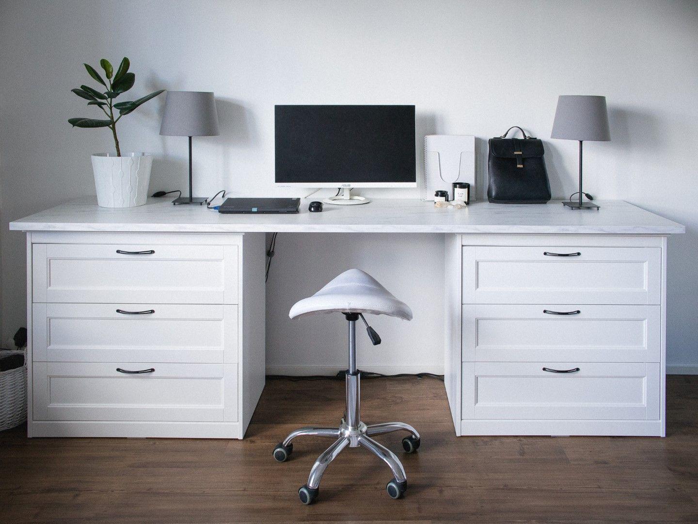Ikea Desk Hack Study Table In 2020 Ikea Desk Desk Hacks Ikea Desk Hack