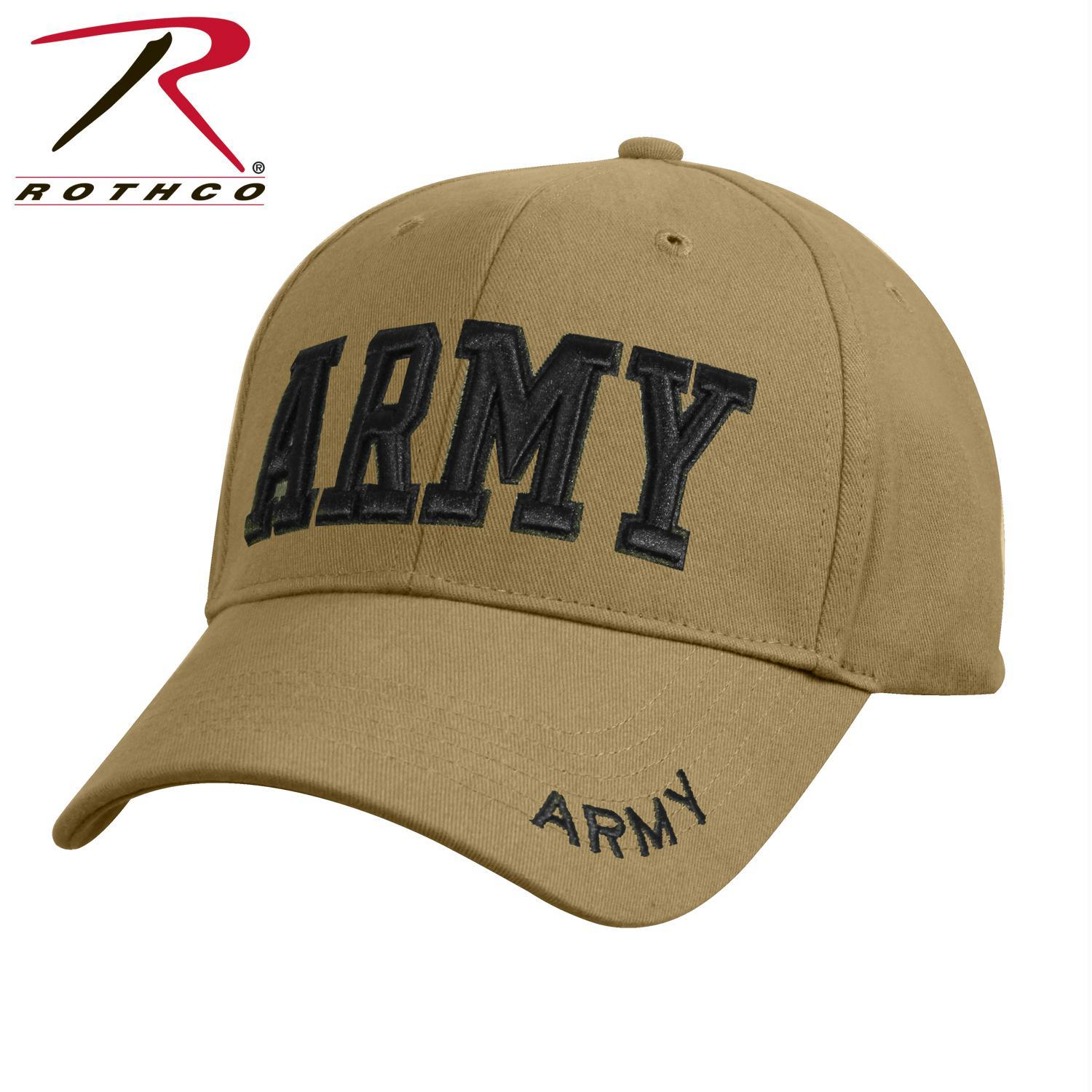 ff42b2d25ae Rothco Deluxe Army Embroidered Low Profile Insignia Cap in 2018 ...