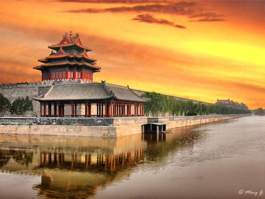 Forbidden City Beijing China Sunset At By Ming G