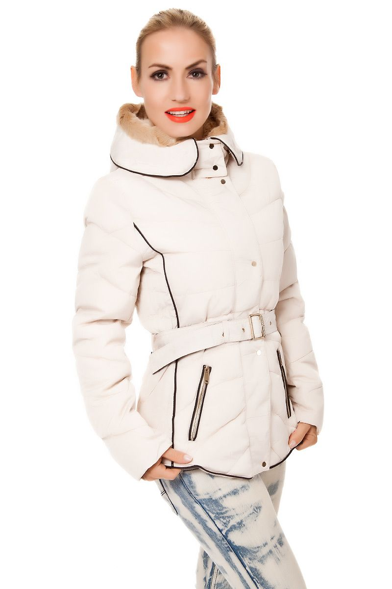 sale retailer 970ec b19d6 Steppjacke #Winterjacke mit Fellkapuze & Gürtel ...