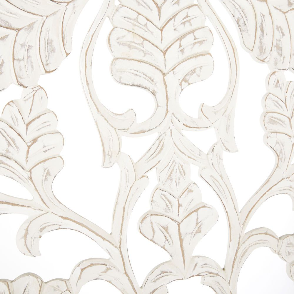 Wanddeko Geschnitzt Weiss 180x80 Maisons Du Monde Kunstproduktion Schnitzen Wanddeko