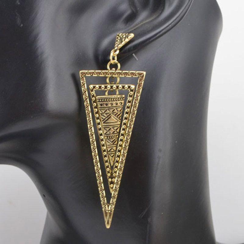 새로운 빈티지 보석 펑크 삼각형 드롭 귀걸이 소녀 E633