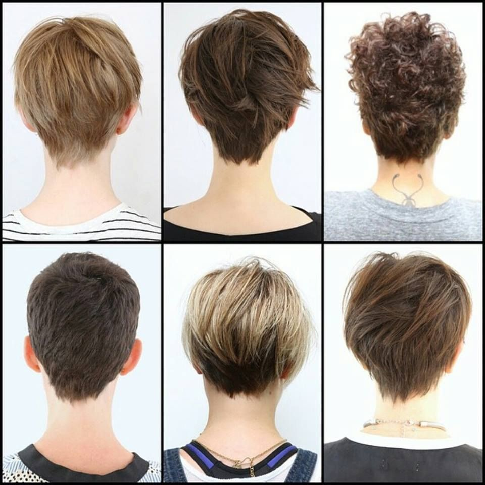 Image result for pixie cuts front and back views hair pinterest