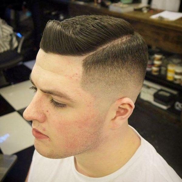Side Part Fade Haircut Military Haircut Military Haircuts Men Mens Haircuts Fade