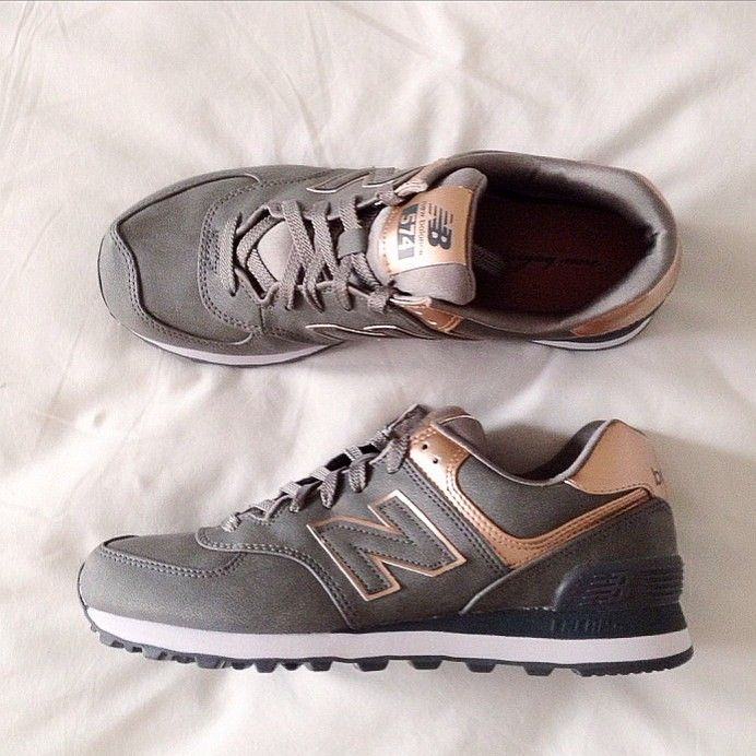 new balance 574 rose et grise