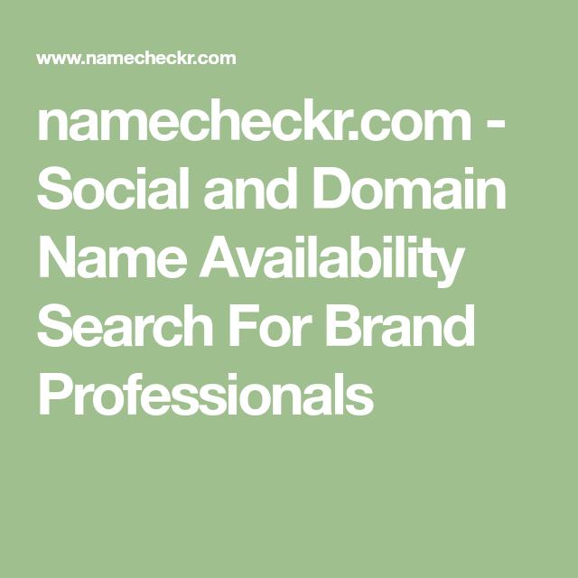 namecheckr.com - Social and Domain Name Availability ...