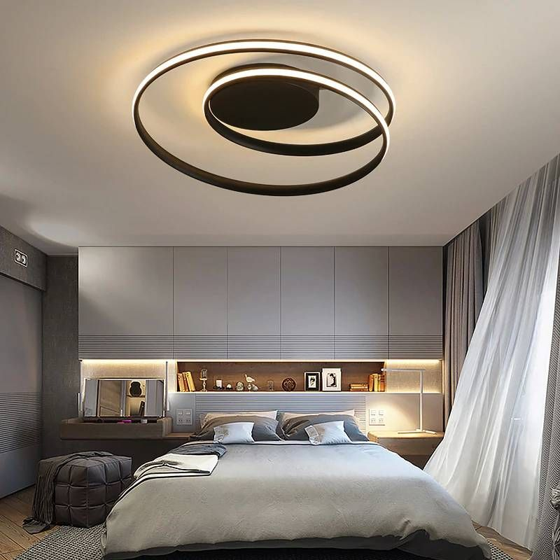 Luster LED ceiling lights for living room study bedroom Home Deco AC85-265V white modern surface mounted ceiling lamp