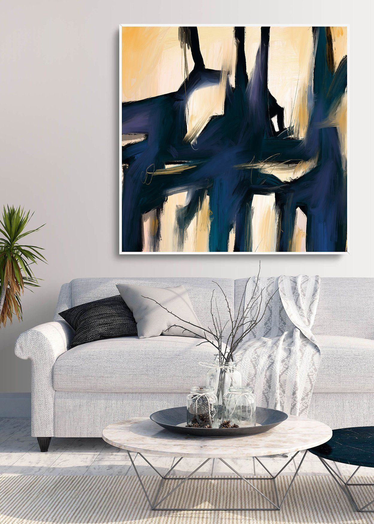 Extra Large Wall Art Minimal Abstract Painting Contemporary