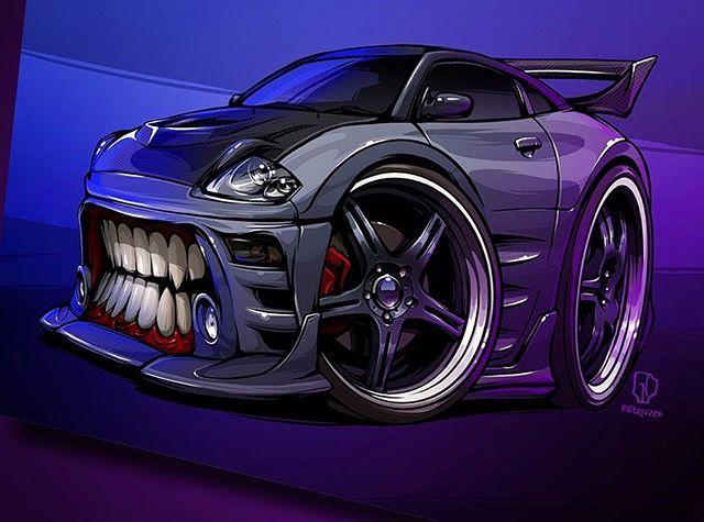 Ass-kickin Eclipse #BeastedUp now! #nitrouzzz #AndreyPridybaylo #art #illustration #digitalart # ...