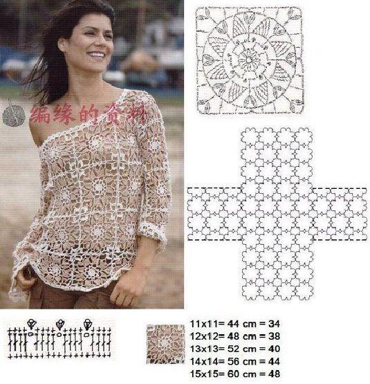 Revista crochet blusas - Imagui