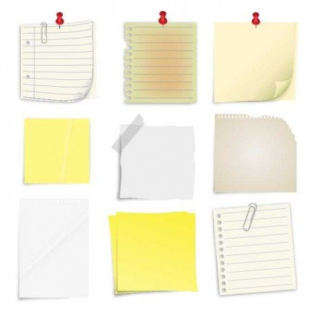 Post It Notes Collection 450x451 これはいいメモ帳や付箋紙の無料