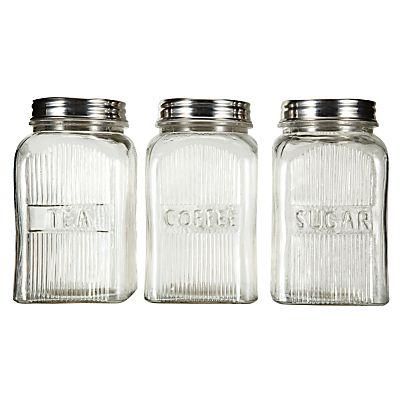 Home Comforts: John Lewis glass storage jars #home