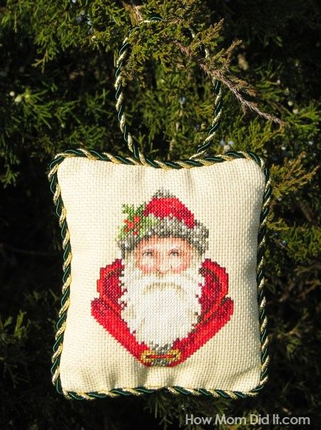 MAKING MY HEART HAPPY ORNAMENTS-CROSS STITCH CHART-HOMESPUN ELEGANCE