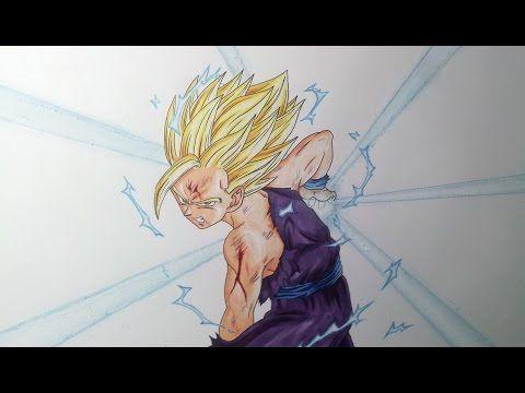 Drawing Gohan Ssj2 Super Saiyan 2 Kamehameha Youtube Gohan Ssj2 Super Saiyan Gohan