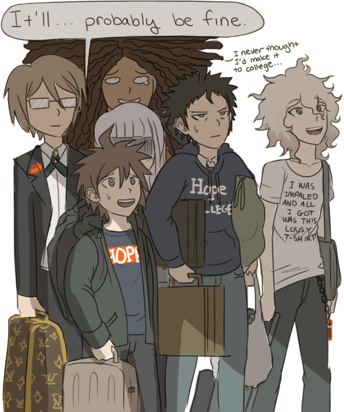 The survivors apply for Hope College  (Mygosh, Komaeda's T