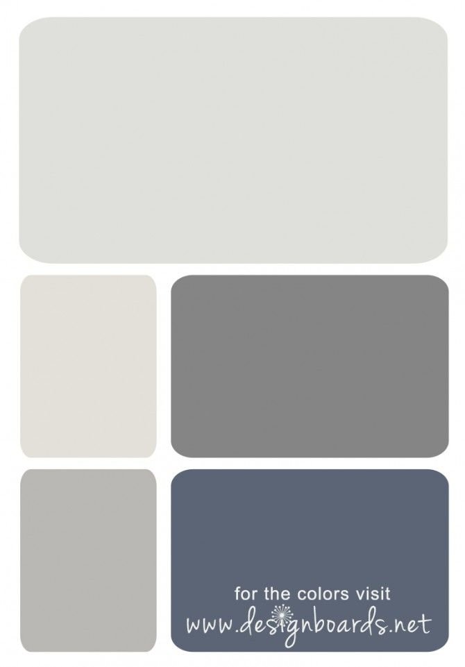 Color Board Stormy Gray And Blue Design Boards Lightgray