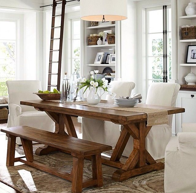 Breakfast Table  Alh  Pinterest  Cozy Kitchen Kitchen Dining Interesting Pottery Barn Dining Room Tables Review