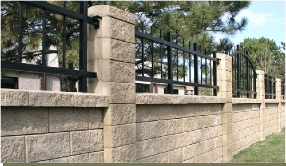 Cinder Block Fence Designs This Block Wall Fence Has Ornamental