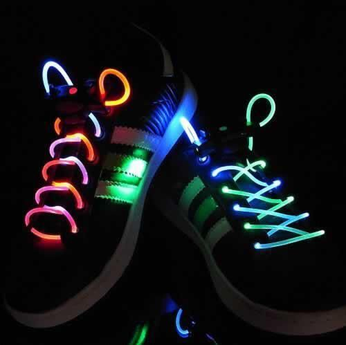 A pair Hot Luminous Glow In The Dark Shoelace Flat Athletic Shoe Lace party 1M