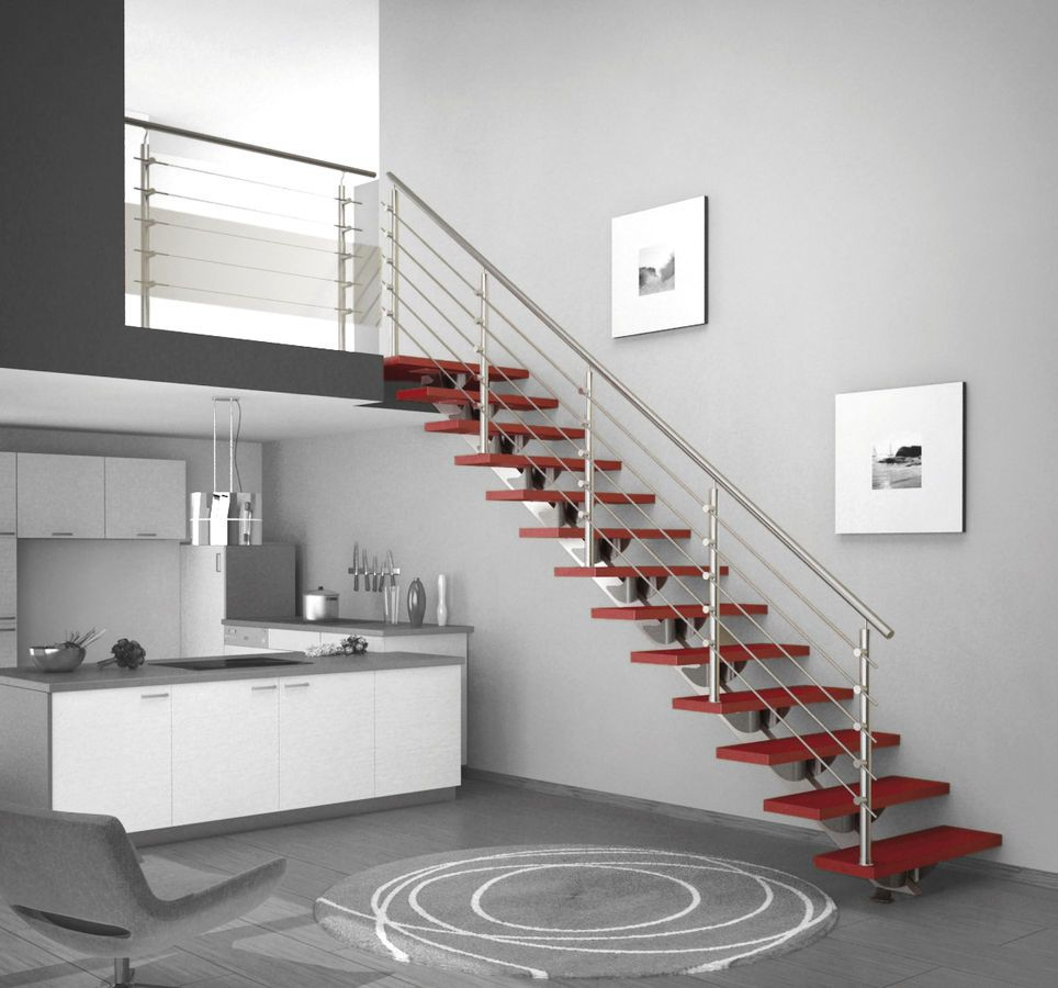 metal railing for stairs interior - Google Search