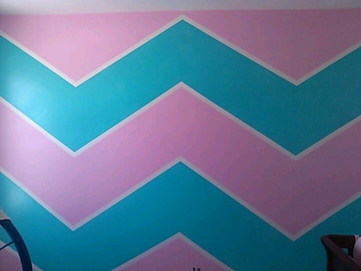 Love Love Love These Colors Chevron Stripes In The Girls Room