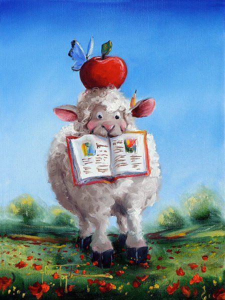 Teacher S Pet Sheep Illustration Sheep Art Sheep And Lamb
