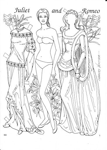 Romeo and juliet coloring pages free ~ Romeo and Juliet Coloring Paper Dolls by Charles Ventura ...