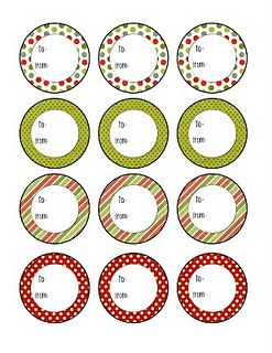 christmas labels - free printable, also some free subway art printables