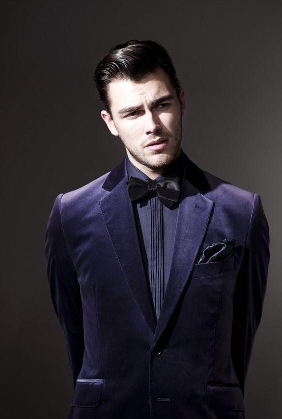 Latest Coat Pant Designs Purple Velvet Men Suit Slim Fit 2 Piece ...