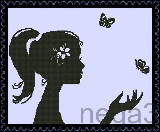Gallery.ru / Дюймовочка - Схемки для детей и начинающих вышивальщиц - Nega3