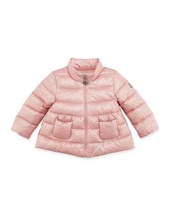 ef5b7d9f2b9a2 Joelle Quilted Tech Jacket, Light Pink, 3-24 Months by Moncler at Bergdorf  Goodman.