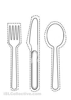 Forks Knives Spoons And Plates Coloring Sheets Google Search Montessori Activities Fine Motor Skills Activities Kindergarten Activities